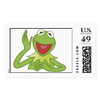 Muppets Kermit waving smiling Disney Postage Stamp