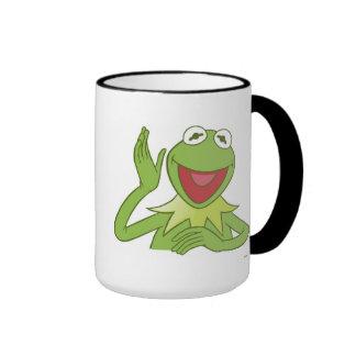 Muppets Kermit waving smiling Disney Ringer Coffee Mug