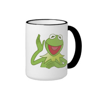 Muppets Kermit waving smiling Disney Ringer Mug