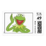 Muppets Kermit waving smiling Disney Stamp