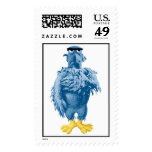 Muppets Sam the Eagle standing pledging Disney Stamp
