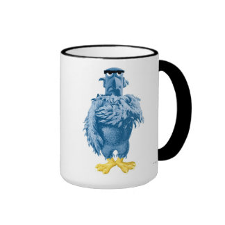 Muppets Sam the Eagle standing pledging Disney Ringer Coffee Mug