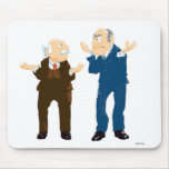 Muppets Sattler And Waldorf looking at each other Mouse Pad