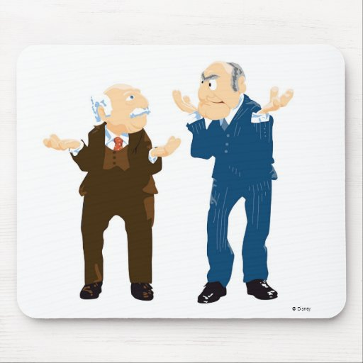 Muppets Sattler And Waldorf looking at each other Mousepads