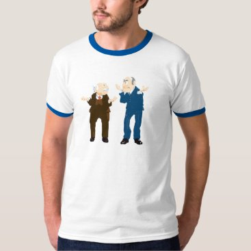 Disney Themed Muppets Sattler And Waldorf looking at each other T-Shirt
