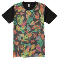 Muppets | Tropical Kermit & Animal Pattern All-Over-Print T-Shirt
