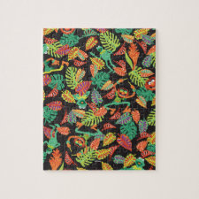 Muppets | Tropical Kermit & Animal Pattern Jigsaw Puzzle