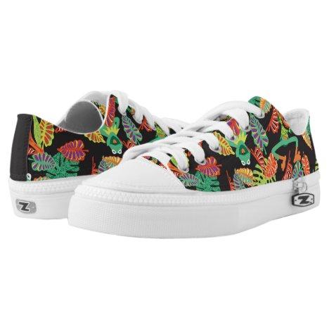 Muppets | Tropical Kermit & Animal Pattern Low-Top Sneakers