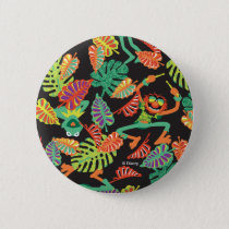 Muppets | Tropical Kermit & Animal Pattern Pinback Button