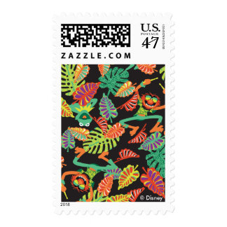 Muppets | Tropical Kermit & Animal Pattern Postage Stamp