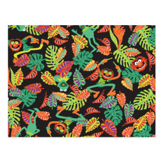 Muppets | Tropical Kermit & Animal Pattern Postcard