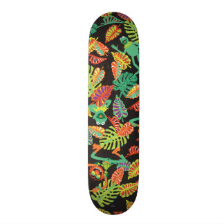 Muppets | Tropical Kermit & Animal Pattern Skateboard