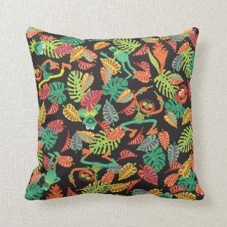 Muppets | Tropical Kermit & Animal Pattern Throw Pillow