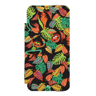 Muppets | Tropical Kermit & Animal Pattern Wallet Case For iPhone SE/5/5s