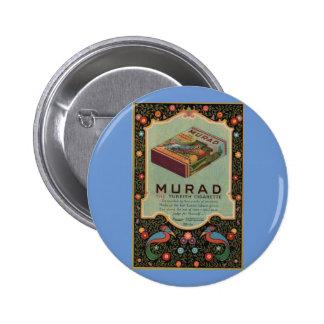 Murad Cigarettes ad Pinback Button