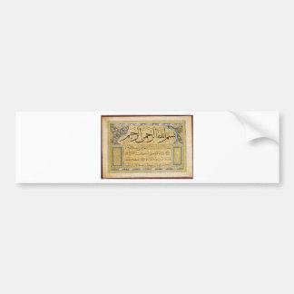 Murakka (calligraphic album) by Hafiz Osman Car Bumper Sticker