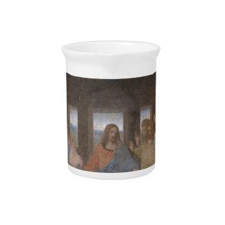 Mural 1490s de Leonardo da Vinci de la última cena Jarra Para Bebida