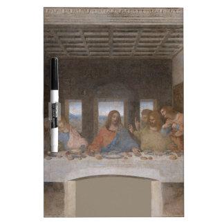 Mural 1490s de Leonardo da Vinci de la última cena Pizarras Blancas
