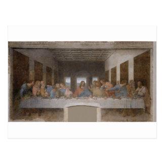 Mural 1490s de Leonardo da Vinci de la última cena Postal