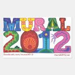 MURAL 2012, klistermärke