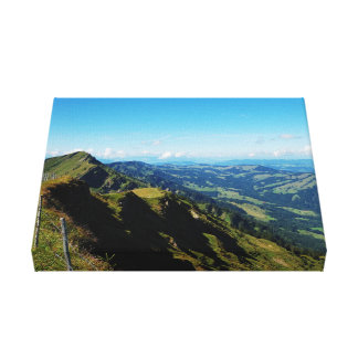 Mural alps with upper baptism in the Allgäu Canvas Print
