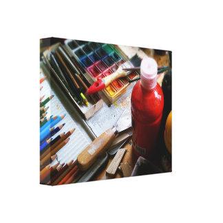 Mural arte lienzo envuelto para galerias
