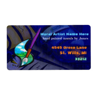 Mural Artist Graphic Design BUSINESS WIDE Label