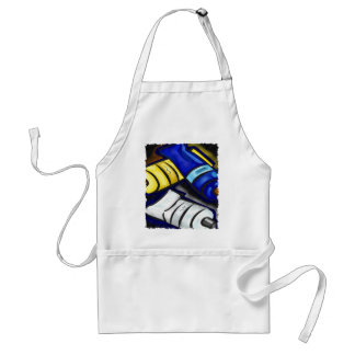 Mural Artist Graphic Design PAINTING Adult Apron