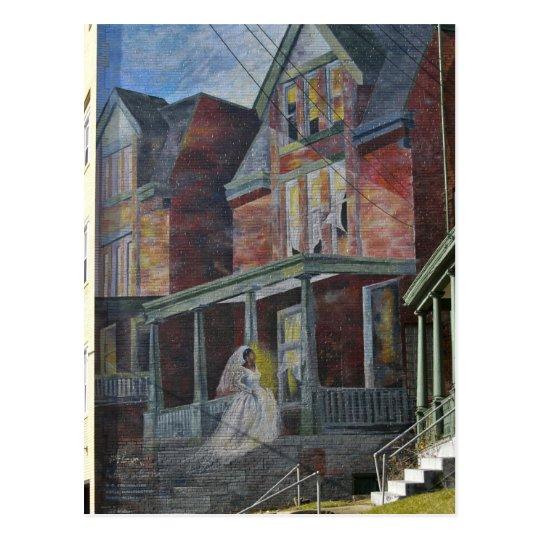 "Mural:  Bride entering her ""house."" Postcard"