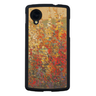 Mural brillante del jardín de los Wildflowers de Funda De Nexus 5 Carved® De Arce