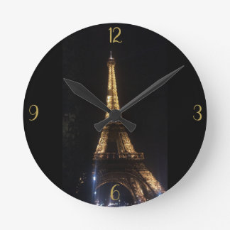 Mural clock out of acrylic resin, Eiffel Tower
