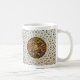 Mural & coffers Ceiling Dome in Jefferson Building Classic White Coffee Mug