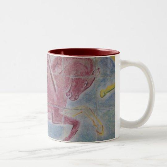 Mural - Como, Italy Two-Tone Coffee Mug