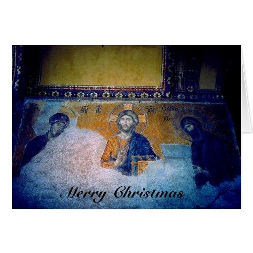 mural de Jesús del navidad Tarjeta De Felicitación