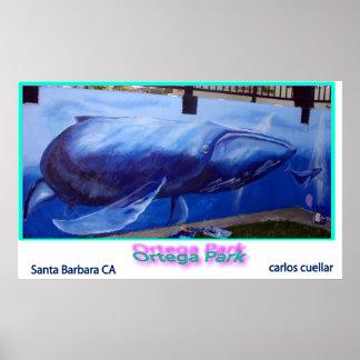 mural de la ballena posters