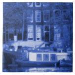 Mural de la teja del paisaje urbano de Amsterdam -