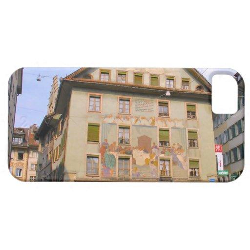 Mural de la última cena de Suiza, Alfalfa iPhone 5 Case-Mate Fundas
