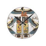 Mural de las tumbas de los reyes en Thebes, disco Reloj