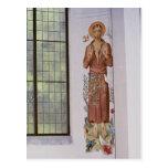 Mural de St Francis en abadía Postal