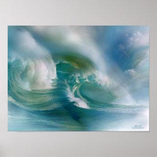 Mural del arte del remolino de la onda impresiones