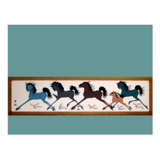 Mural del caballo de Chalee del estallido Tarjetas Postales