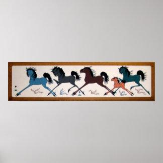 Mural del caballo de Charlee del estallido Poster