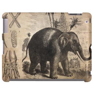 Mural del elefante del vintage funda para iPad