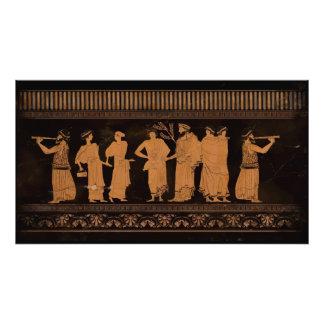 Mural del griego clásico impresiones fotográficas