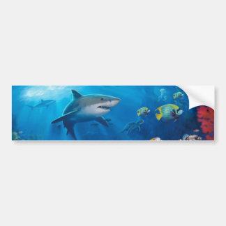 Mural del océano pegatina para auto