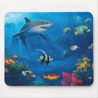 Mural del océano alfombrillas de raton