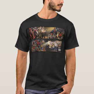 Mural del temblor/camisa futuros de la oscuridad playera