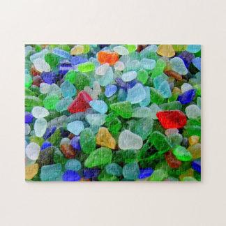 Mural del vidrio de la playa puzzles
