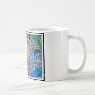 MURAL DEL VINTAGE DE KERALA [LA INDIA] TAZA DE CAFÉ