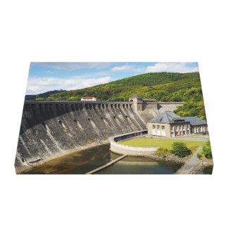Mural Edersee concrete dam in the summer Canvas Print